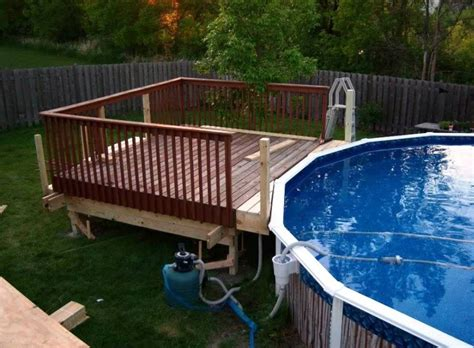 Deck Design Ideas For Above Ground Pools by Above Ground Pools Decks Designs Studio Design