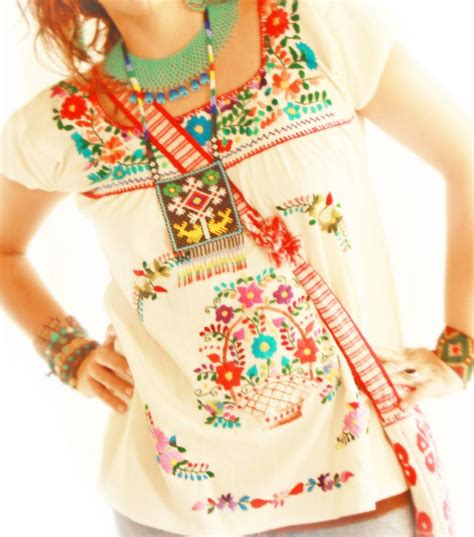 Blouse Cemara Puff Murah embroidered mexican blouse blouse with
