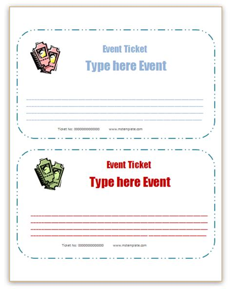 office ticket template microsoft office templates event ticket templates