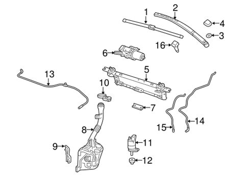 auto manual repair 2012 gmc terrain windshield wipe control wiper washer components 2012 chevrolet equinox oem new gm parts