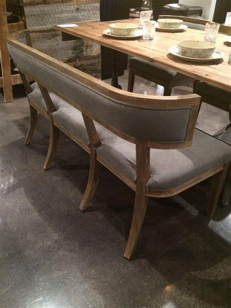 curved dining benches canvas and wood curved dining bench mecox gardens