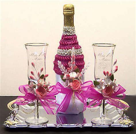 Botellas De Sidra Decoradas Para El Novio Imagenes Con Diamantina | de 40 im 225 genes botellas y copas decoradas para 15 a 241 os