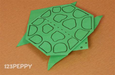 How To Make A Turtle Out Of Paper - sea animal crafts project ideas 123peppy