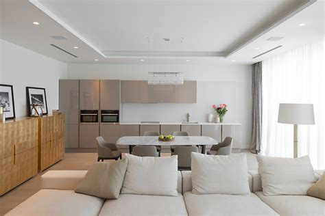 open plan apartment lighting details create drama in modern open plan apartment