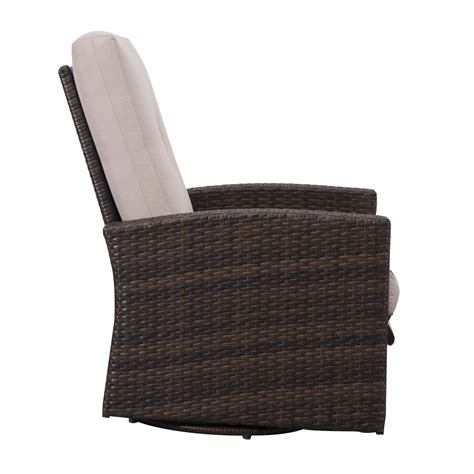 Outsunny Rattan Wicker Swivel Rocking Outdoor Recliner Outdoor Wicker Swivel Chair