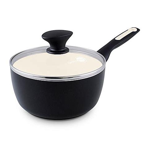 1 Qt Pan Sauciers Health Ceramic - greenpan 2 qt aluminum nonstick saucepan bed bath