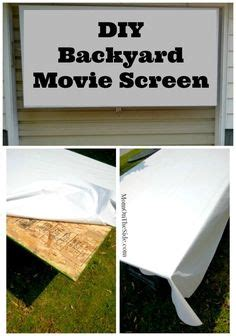 Easy diy movie screen for backyard movie nights two simple products