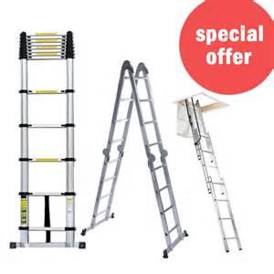multi purpose extended telescopic ladder multi ladder loft attic ladder new ebay