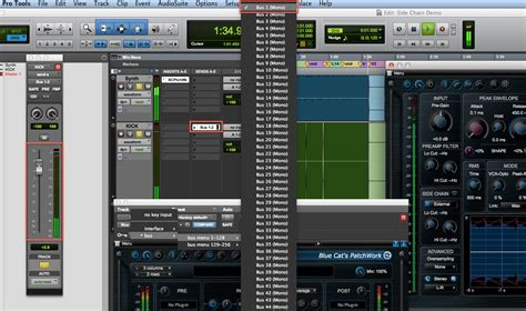Blue Cats Patchwork - using side chain with blue cat s patchwork in pro tools