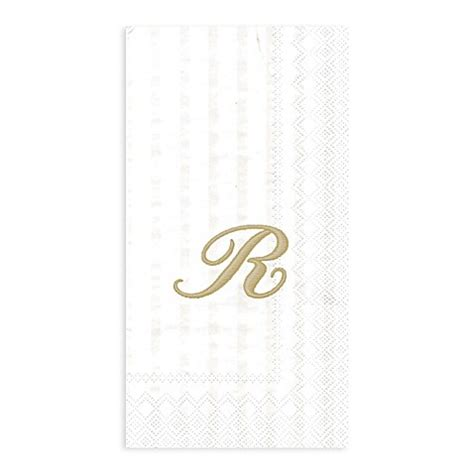 paper bathroom guest towels paper monogram letter quot r quot guest towels 16 pack bed