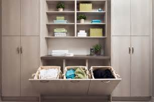 Slim Cabinet Storage Built In Laundry Hampers Contemporary Laundry Room