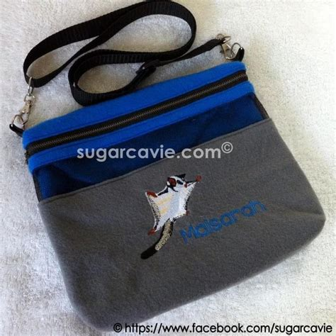 Donut Pouch Sugar Glider bonding pouch with sugar glider embroidery sugarcavie embroidery sugar