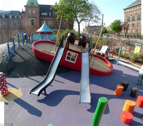 tugboat urban design giant spiders wobbly castles and rocket ship slides