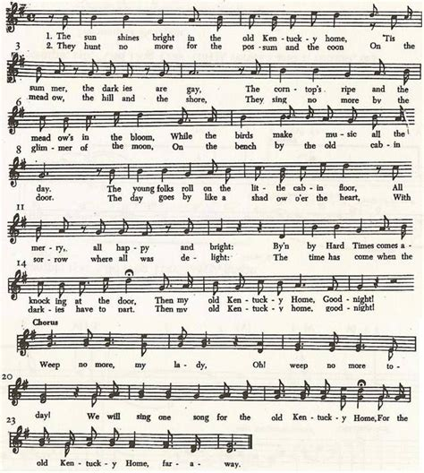 printable lyrics to my old kentucky home tradition anthem my old ky home ky derby pinterest