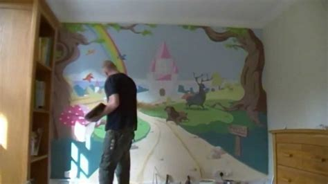 Tree Mural For Wall enchanted forest amp castle mural time lapse youtube