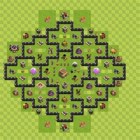 layout coc th 8 anti rok coc th 8 terkuat formasi base terbaik clash of clans