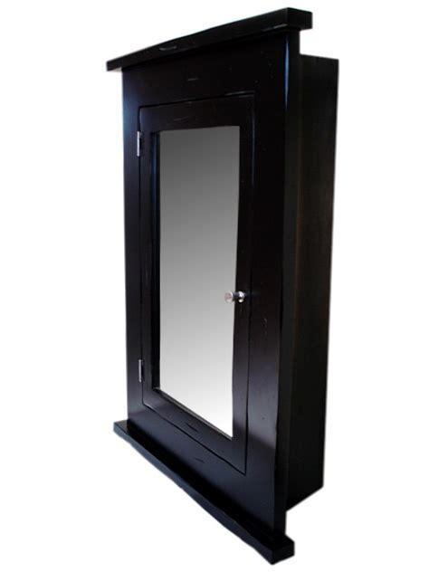 black bathroom medicine cabinet primitive medicine cabinet black finish recessed ebay