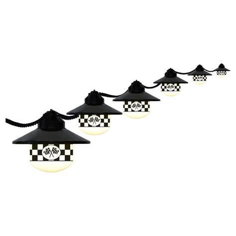 6 globe checkered flag string light set
