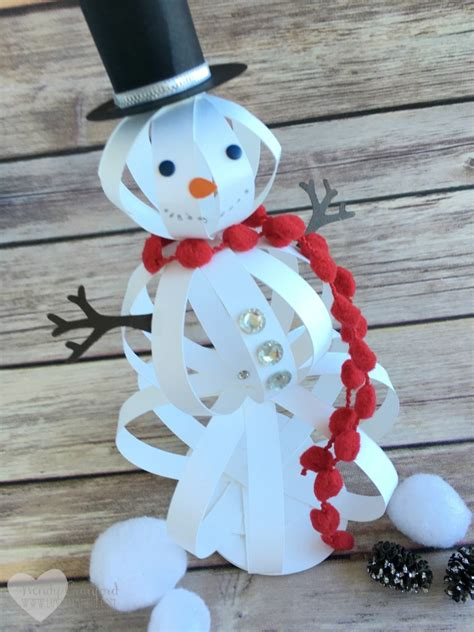crafts snowman how to make a snowman craft with paper strips the crafty