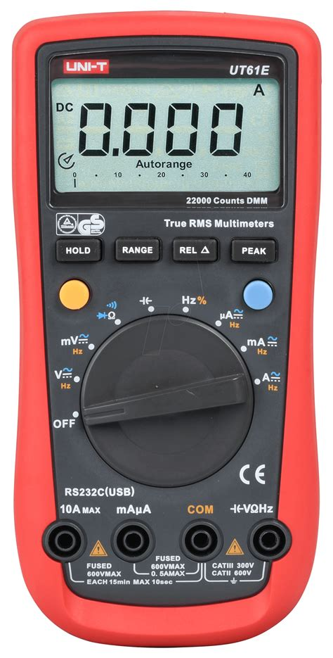 Uni T 61e ut 61e uni t trms digital multimeter 22000 counts usb at