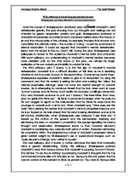 Exles Of Interior Monologue In Literature by Macbeth Dagger Soliloquy Analysis Essay Sgasd X Fc2