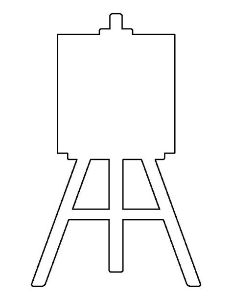 wood easel pattern easel pattern use the printable outline for crafts