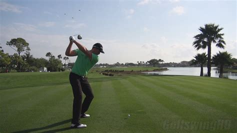 slow motion golf swing from behind 2013 henrik stenson driver golf swing perfect dtl stance