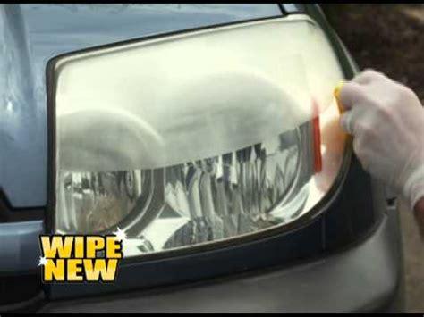 wipe new headlight restore youtube
