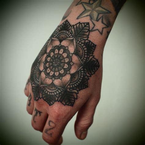 geometric hand tattoo geometric flower hand tattoo tattoos i want or are just