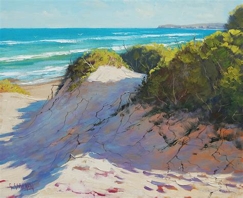 Knife Blocks quot beach dunes painting quot by graham gercken redbubble