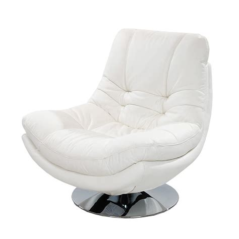 nevada white leather swivel chair el dorado furniture