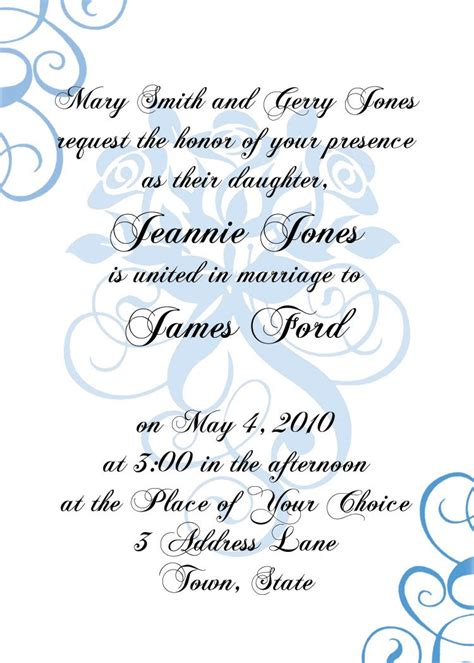 Formal Invitation Templates Free by Formal Invitation Templates Invitation Template