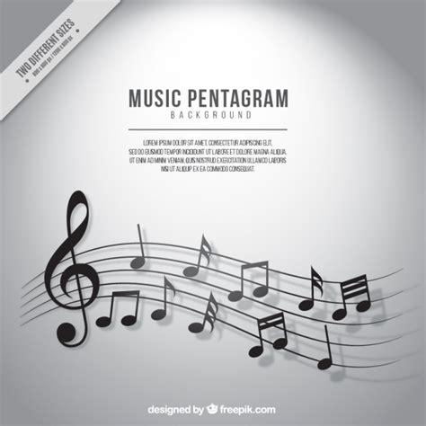 imagenes de tonos musicales fondo de pentagrama con notas musicales en tonos grises