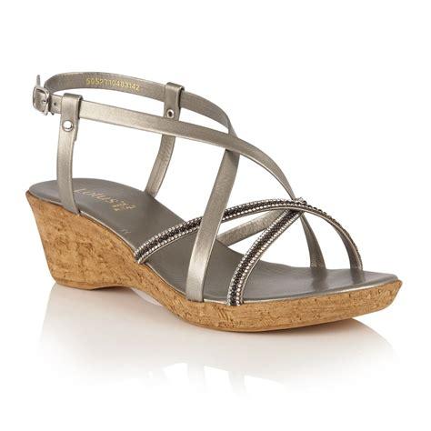 wedge strappy sandals lotus merida pewter wedge strappy sandals sandals from