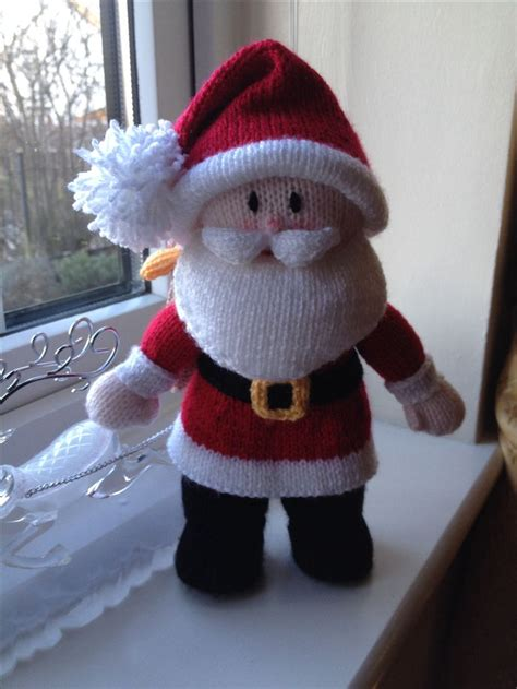 santa knitting pattern pin by george on projects to try