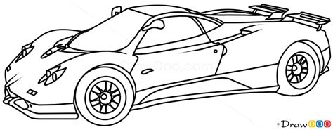 supercar drawing how to draw pagani zonda c12 supercars how to draw
