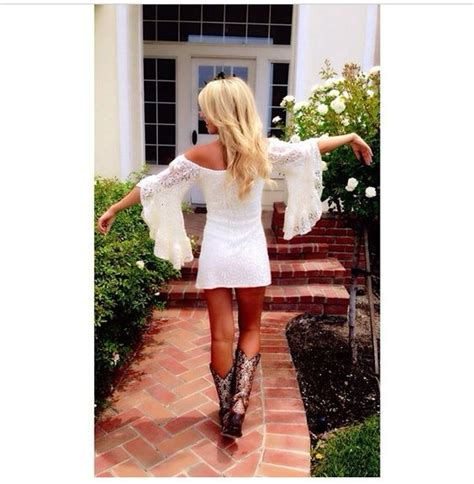 lace country style dresses country style white lace dress with belled
