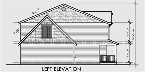 Side View House Plans by Narrow Lot House Plan 4 Bedroom House Plan Bonus Room Plan