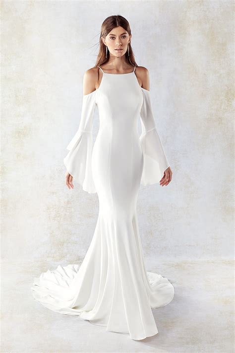 Non Designer Wedding Dresses by Sleeve Eddy K Bridal Gowns Designer Wedding