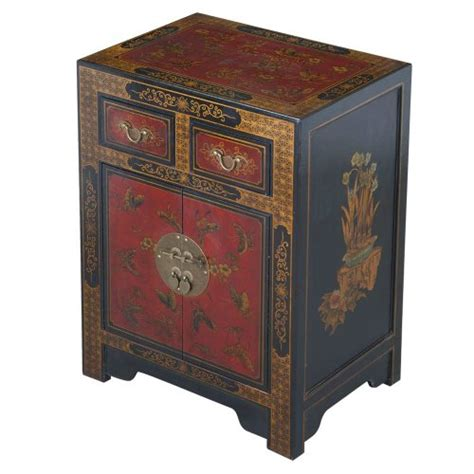asian inspired furniture exp handmade oriental furniture 27 inch antique style black leather end table with nature motifs