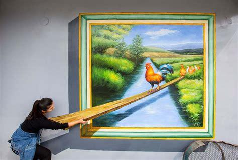 3d paintings 3d paintings dress up huimin village in guizhou 1