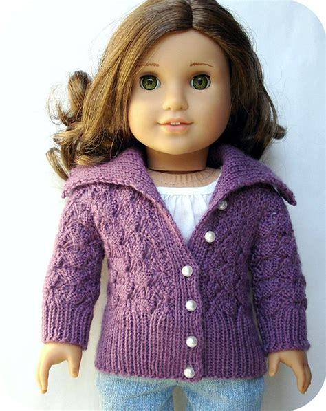 doll cardigan knitting pattern my maplelea my country my doll knit patterns for our 18