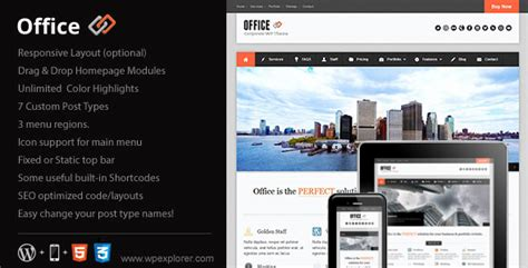 Themeforest Office | office responsive business themeforest wp theme