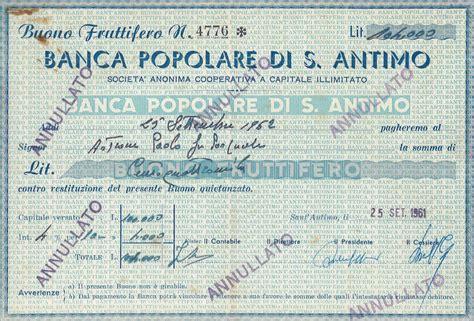 Banca Sant by Banca Popolare Di S Antimo Titolo Finanziario Storico