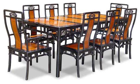 80 Quot Rosewood Ming Style Dining Table With 8 Chairs Asian Asian Style Dining Room Furniture