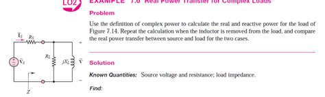 complex power of inductor use the definition of complex power to calculate t chegg