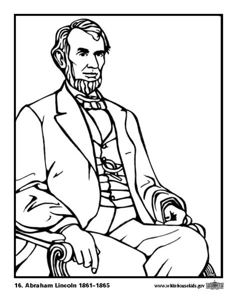 Lincoln Coloring Pages abraham lincoln coloring pages coloring home