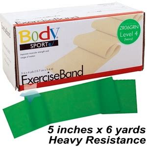 yds resistors sport exercise band green heavy