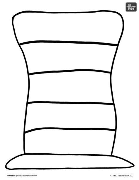 doctor hat coloring page dr seuss hat coloring pages with striped pattern color
