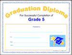 5th grade graduation certificate template printable diplomas for all grade levels